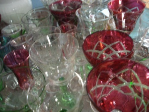 The Cackling Crone's glass collection