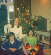 Barbara Sheehan with Peter and Anne Barron at  the Barron's house in Belfast circa 1972
